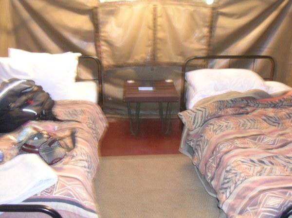 Tent accomodations